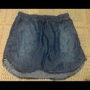 Anthropologie Cloth & Stone Chambray Mini Skirt -S